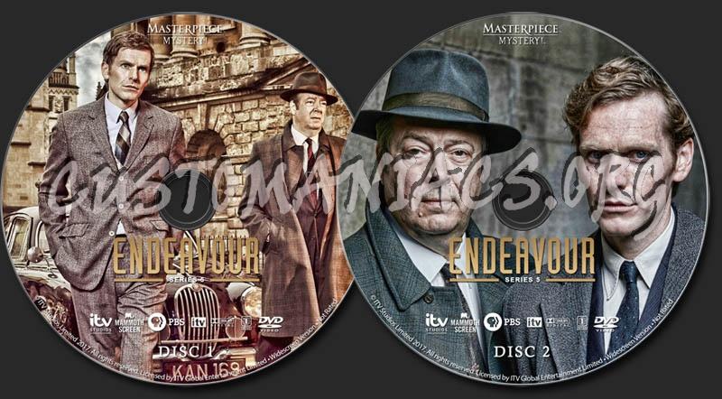 Endeavour - Series 5 dvd label