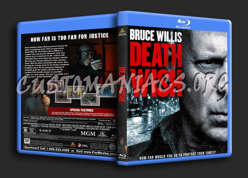 Death Wish (2018) blu-ray cover