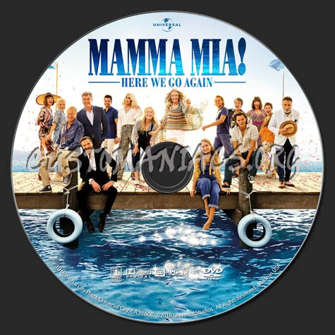 Mamma Mia Here We Go Again Dvd Label Dvd Covers Labels By
