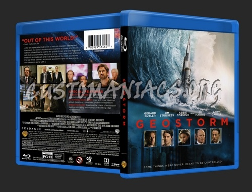 Geostorm blu-ray cover
