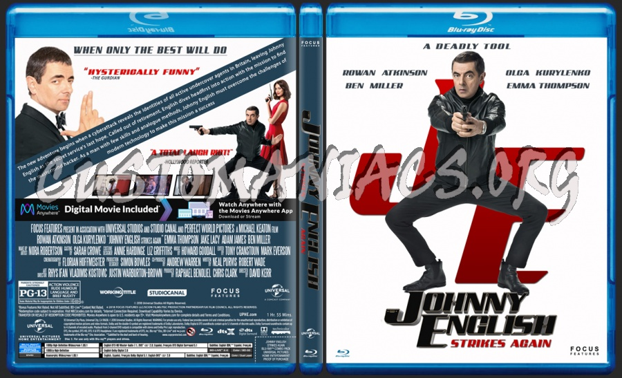 Johnny English Strikes Again blu-ray cover