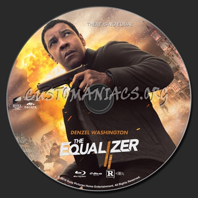 The Equalizer 2 blu-ray label