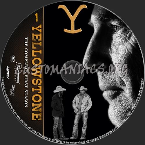 Yellowstone Season 1 dvd label