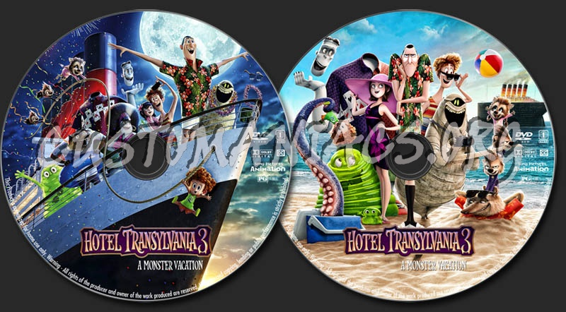Hotel Transylvania 3: A Monster Vacation dvd label