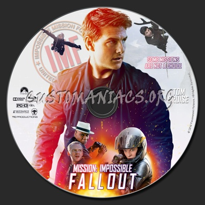 Mission: Impossible - Fallout blu-ray label