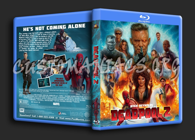 Deadpool 2 blu-ray cover