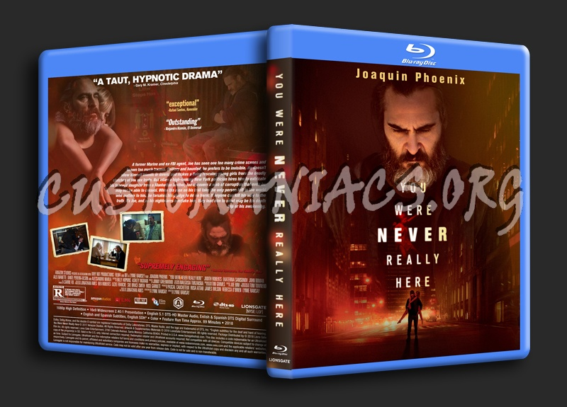 You Were Never Really Here blu-ray cover