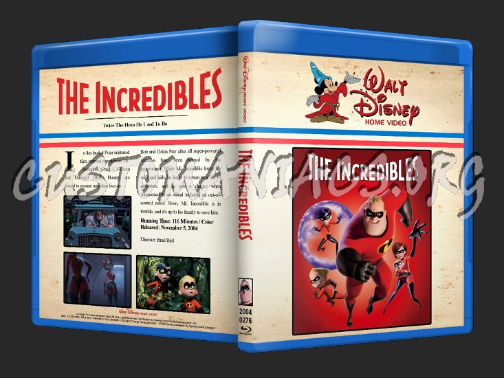 The Incredibles blu-ray cover