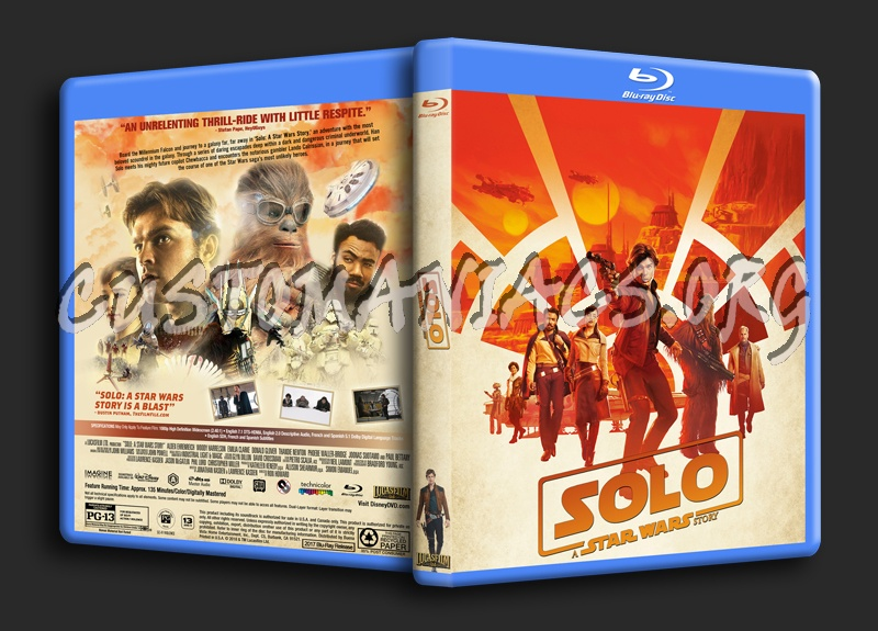 Solo: A Star Wars Story blu-ray cover