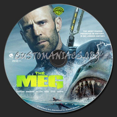 The Meg dvd label