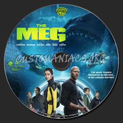 The Meg (2D & 3D) blu-ray label