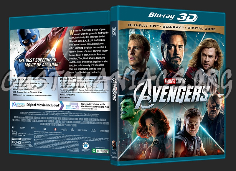 Avengers, The (2D/3D/4K) blu-ray cover