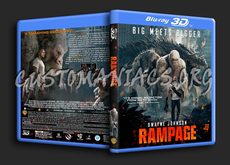 Rampage (2018) 3D blu-ray cover