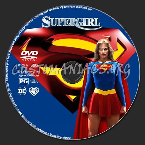 Supergirl dvd label
