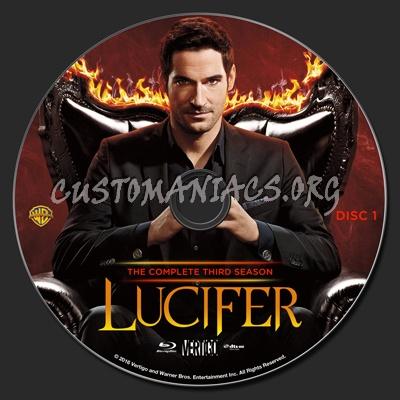 Lucifer Season 3 blu-ray label