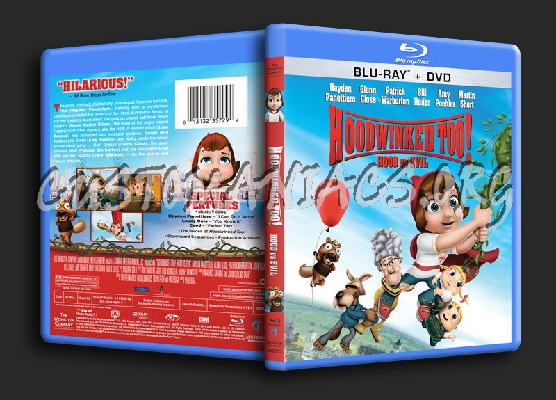 Hoodwinked Too! blu-ray cover
