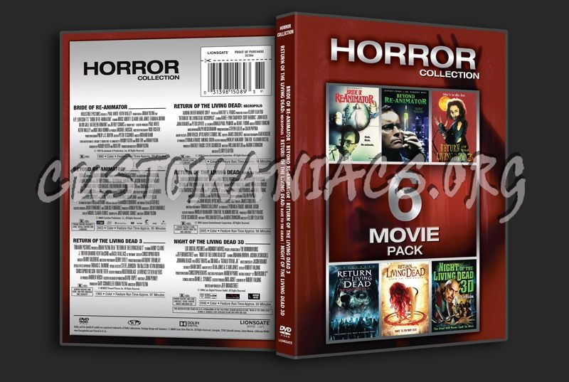 Horror Collection 6 Movie Pack dvd cover