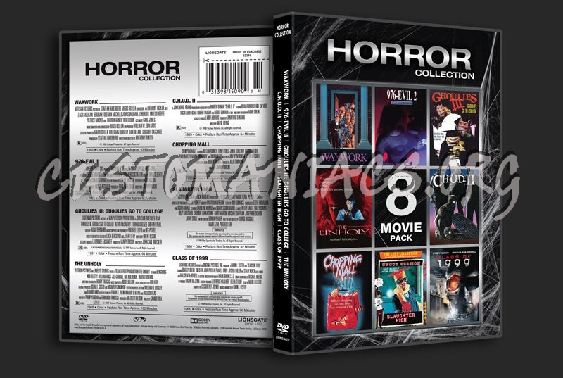 Horror Collection 8 Movie Pack dvd cover