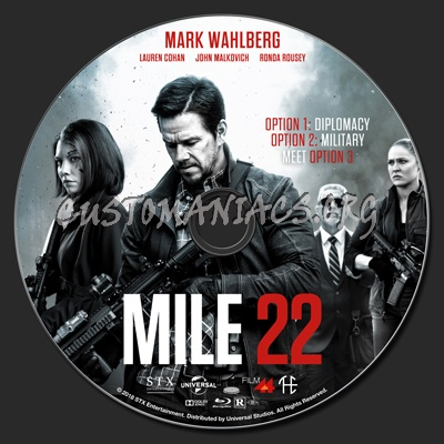 Mile 22 blu-ray label