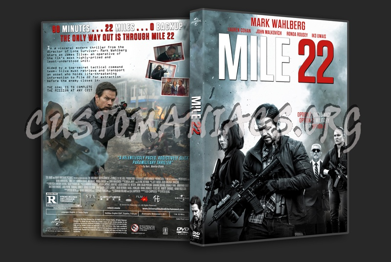Mile 22 dvd cover