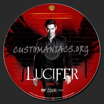 Lucifer Season 2 dvd label