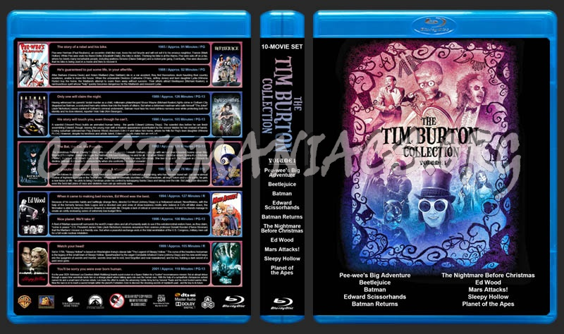 The Tim Burton Collection (10) - Volume 1 blu-ray cover