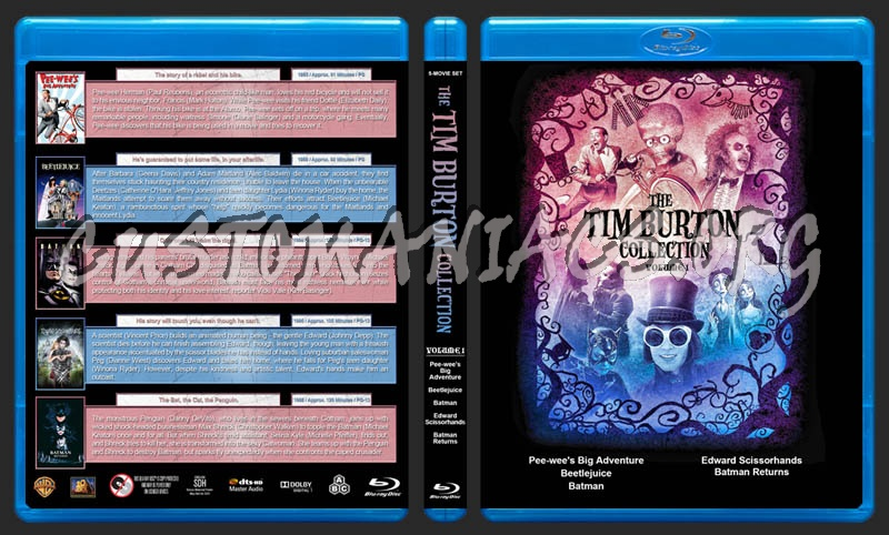 The Tim Burton Collection (5) - Volume 1 blu-ray cover