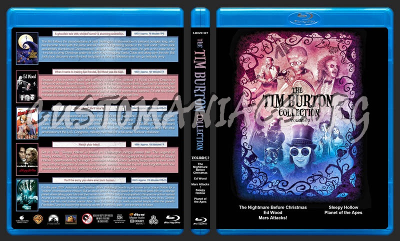 The Tim Burton Collection (5) - Volume 2 blu-ray cover