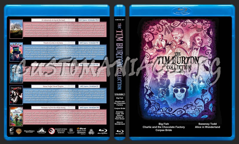 The Tim Burton Collection (5) - Volume 3 blu-ray cover