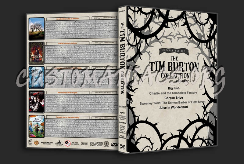 The Tim Burton Collection (5) - Volume 3 dvd cover