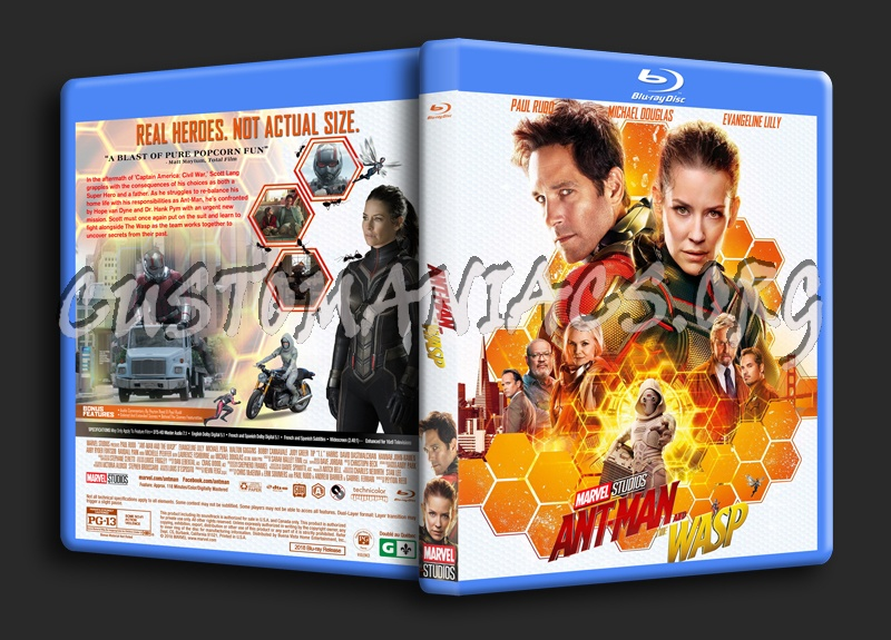 Ant-Man And The Wasp (2018) blu-ray cover