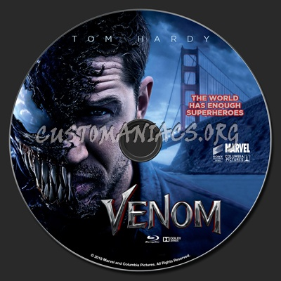 Venom (2018) blu-ray label