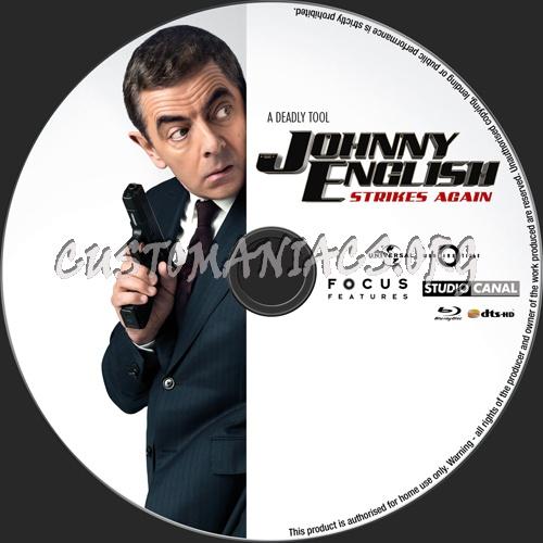 Johnny English Strikes Again blu-ray label