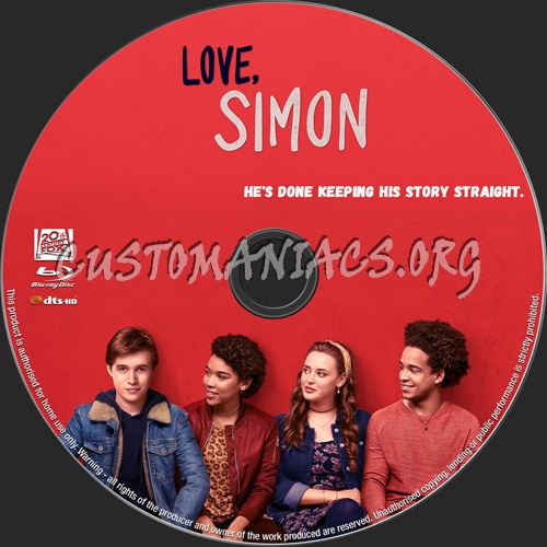 Love, Simon blu-ray label