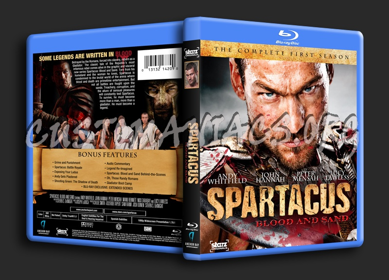 Spartacus: Blood And Sand blu-ray cover