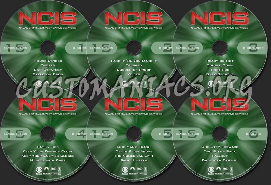 NCIS - Season 15 dvd label