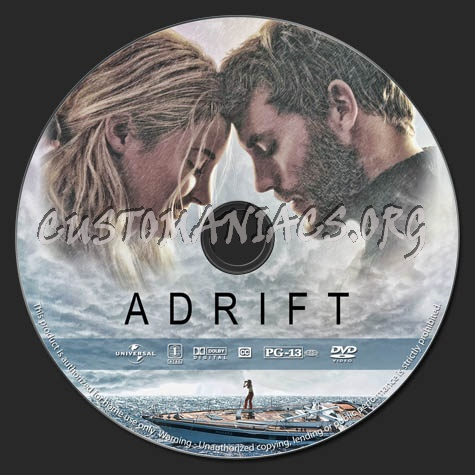 Adrift dvd label