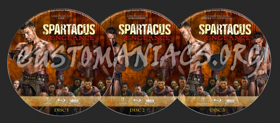 Spartacus: Vengeance blu-ray label