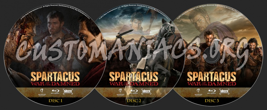 Spartacus: War Of The Damned blu-ray label