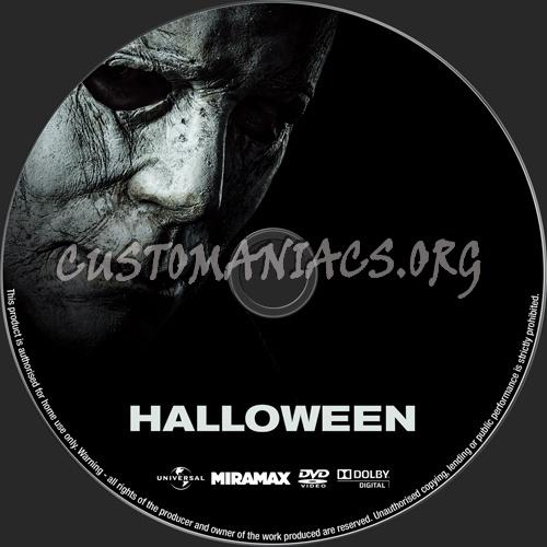 Halloween (2018) dvd label