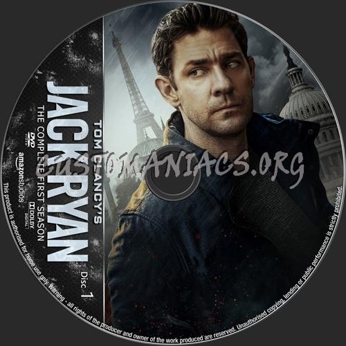 Jack Ryan Season 1 dvd label