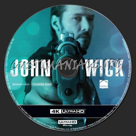 John Wick 4K blu-ray label