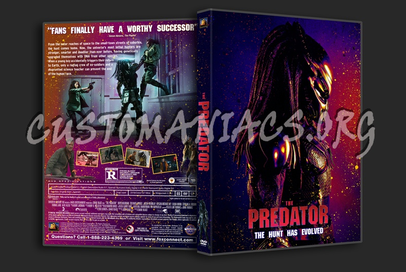 The Predator (2018) dvd cover