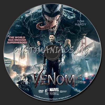 Venom (2018) dvd label