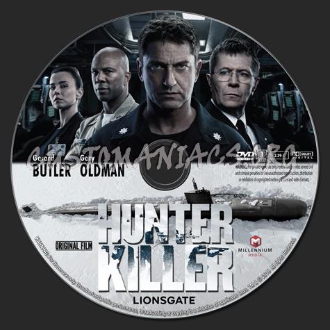 Hunter Killer (2018) dvd label