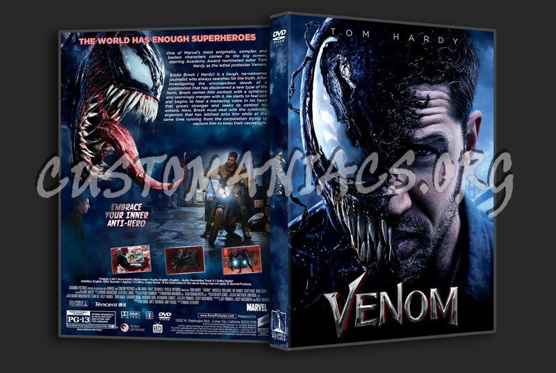 Venom (2018) dvd cover