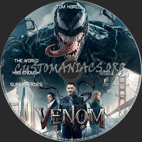 Venom dvd label