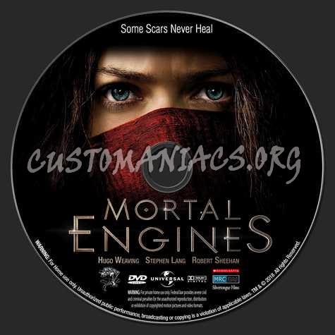 Mortal Engines (2018) dvd label