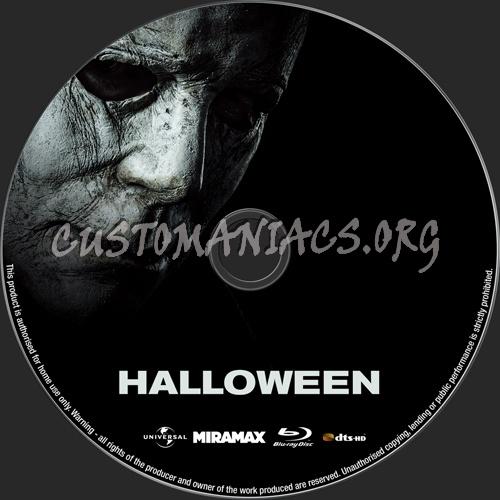 Halloween (2018) blu-ray label