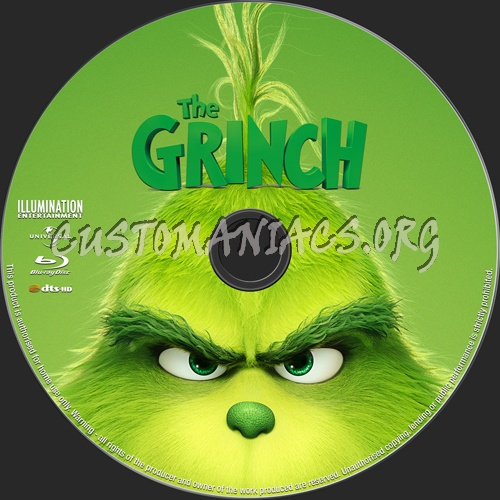 The Grinch (2018) blu-ray label